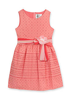 Rare Editions Sleeveless Eyelet Dress Girls 4-6x