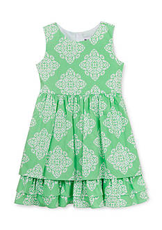 Counting Daisies by Rare Editions 2-Piece Geo Print Ruffle Dress and Cardigan Girls 4-6x