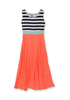 Tween Diva by Rare Editions Striped to Pleated Maxi Dress Girls 7-16