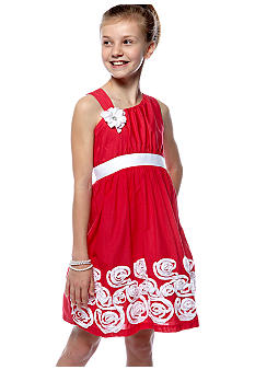 Rare Editions Jeweled Flower Soutache Dress Girls 7-16