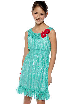 Rare Editions Eyelet Dress Girls 7-16