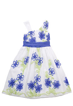 Rare Editions One Shoulder Floral Dress Girls 7-16