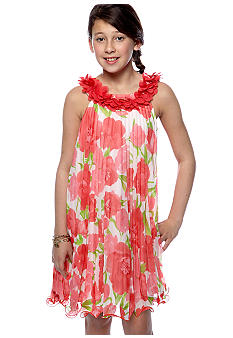 Rare Editions Floral Dress Girls 7-16