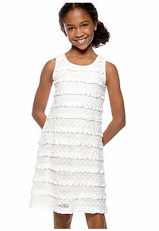 Rare Editions Ruffle Lace Dress Girl 7-16