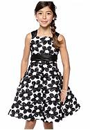 Rare Editions Contrast Floral Soutache Dress Girls 7-16