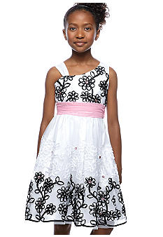 Rare Editions Jeweled Embroidered Soutache Dress Girls 7-16