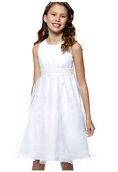 Rare Editions Satin Overlay Dress Girls 7-16