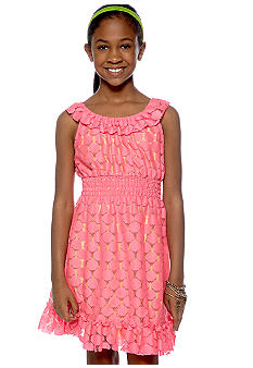 Rare Editions Neon Lace Dress Girls 7-16