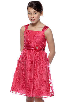 Rare Editions Girls 7-16 Fuschia Flower Dress