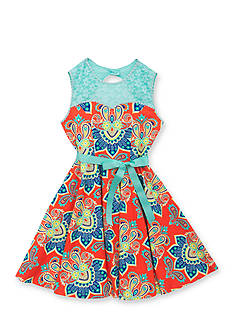 Rare Editions Sleeveless Paisley Print Dress Girls 7-16