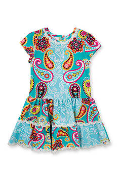 Counting Daisies by Rare Editions Paisley Tiered Dress Girls 4-6x
