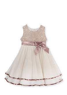Rare Editions Lace to Mesh Ballerina Dress Girls 4-6x