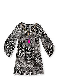 Rare Editions Paisley Boho Patchwork Dress Girls 4-6x