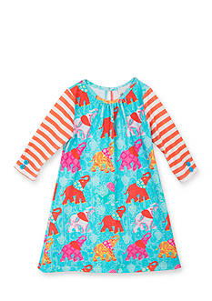Rare Editions Elephant Stripe Dress Girls 7-16