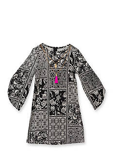 Rare Editions Printed Shift Dress Girls 7-16