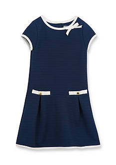 Rare Editions Girls 7-16 Short Sleeve Textured Dress