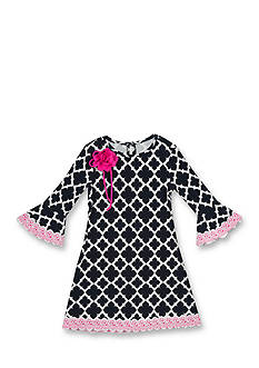 Rare Editions Geo Print Dress Girls 7-16