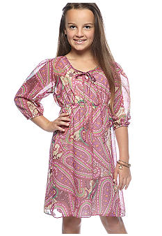 Rare Editions Paisley Shirtdress Girls 7-16