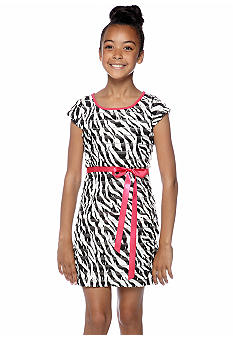 Rare Editions Zebra Print Dress Girls 7-16