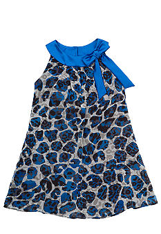 Rare Editions Cheetah U-Neck Dress Girls 7-16