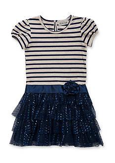 Rare Editions Stripe to Sparkle Dress Girls 7-16
