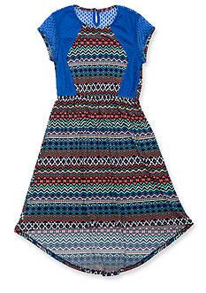 Rare Editions Tribal Print High-Low Dress Girls 7-16