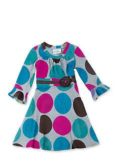 Rare Editions Fuzzy Knit Multi Dot Dress Girls 7-16