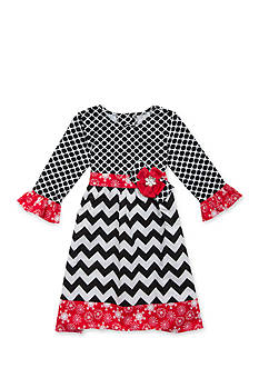 Counting Daisies by Rare Editions Geo to Chevron Print Dress Girls 7-16