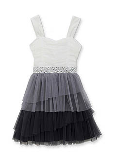 Rare Editions Girls 7-16 Colorblock Ruffle Social Dress