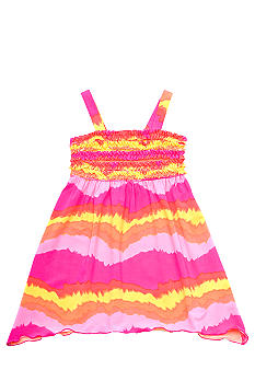 Rare Editions Neon Tye Dye Dress Girls 4-6X