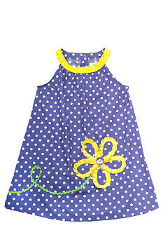 Rare Editions Dot Flower Float Dress Girls 4-6X