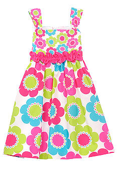 Rare Editions Daisy Print Dress Girls 4-6X
