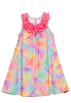 Rare Editions Tie Dye U-neckline Dress Girls 4-6X