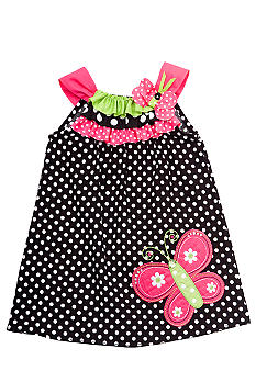 Rare Editions Dot Butterfly Dress Girls 4-6X
