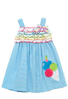 Rare Editions Ice Cream Seersucker Dress Girls 4-6X