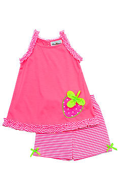 Rare Editions Neon Strawberry Short Set Girls 4-6X