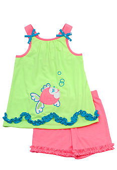 Rare Editions Fish Short Set Girls 4-6X