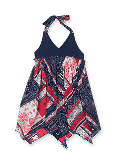 Rare Editions Bandana Halter Dress Girls 4-6x