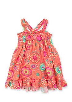 Rare Editions Floral Smock Dress Girls 4-6x