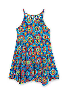 Rare Editions Starburst Printed Knit Dress Girls 4-6x