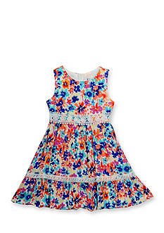 Rare Editions Floral Printed Dress Girls 4-6x