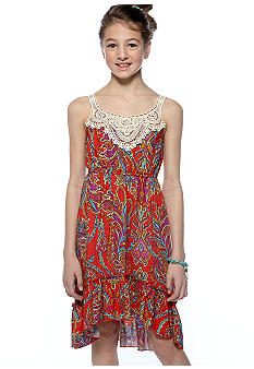 Rare Editions Paisley Hi-Lo Dress Girls 7-16