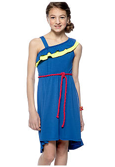 Rare Editions One Shoulder Hi Lo Dress Girls 7-16