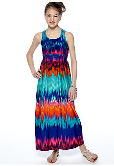 Rare Editions Tie Dye Maxi Dress Girls 7-16