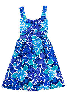 Rare Editions Blue Floral Dress Girls 7-16