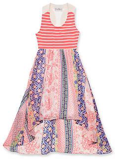 Rare Editions Stripe to Chiffon Dress Girls 7-16