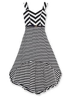 Rare Editions Chevron to Stripe Dress Girls 7-16