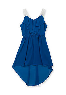 Tween Diva by Rare Editions Ruffle High Low Dress Girls 7-16