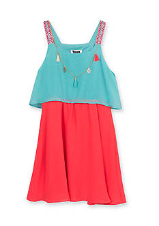 Tween Diva by Rare Editions Colorblock Popover Dress Girls 7-16