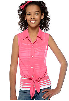Amy Byer 2 In One Stripe Tank Girls 7-16